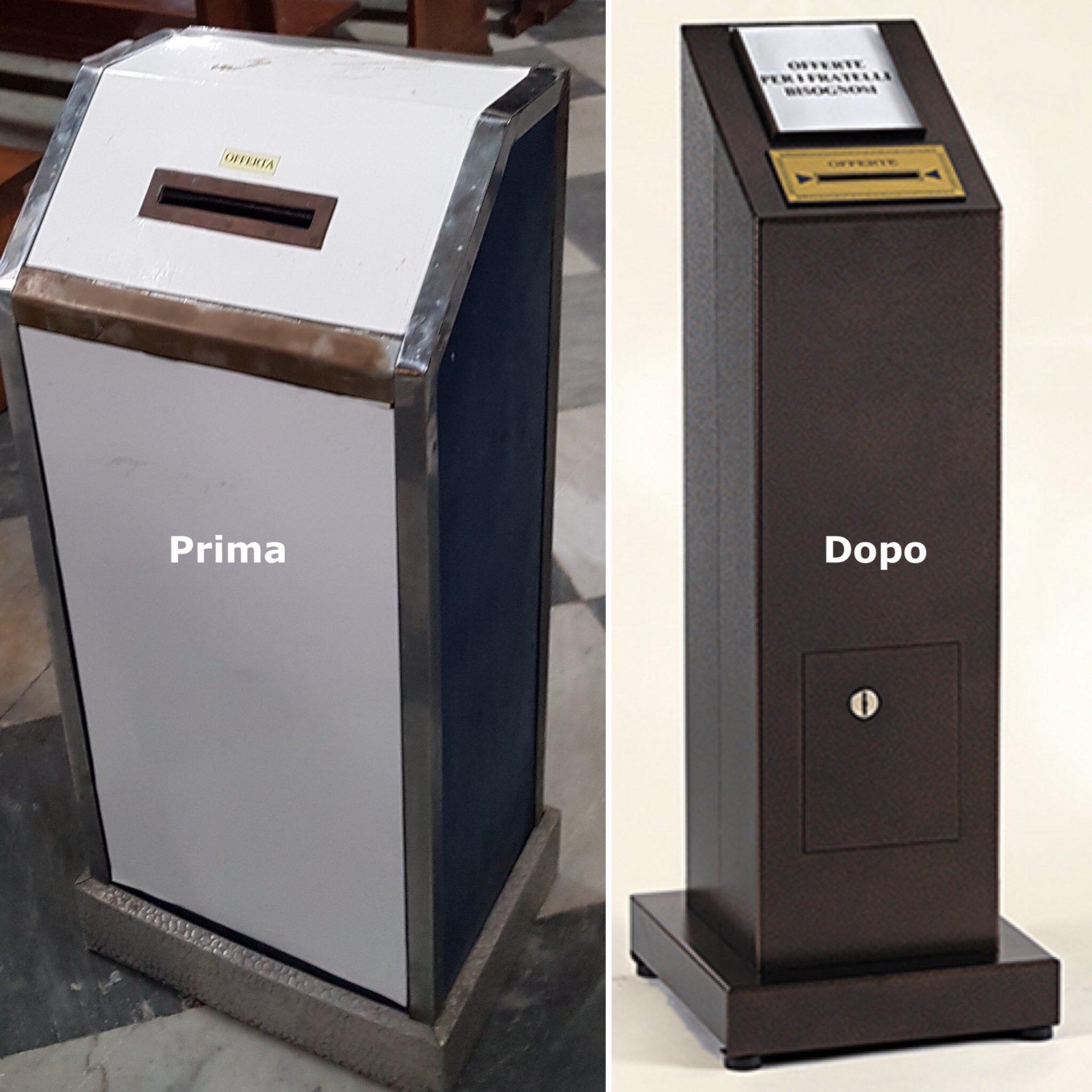Votivo Arredi Sacri cassette o bussole per offerte