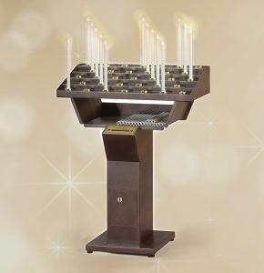 Votivo Arredi Sacri Candeliere Elettrico Gestuale 33 accensioni
