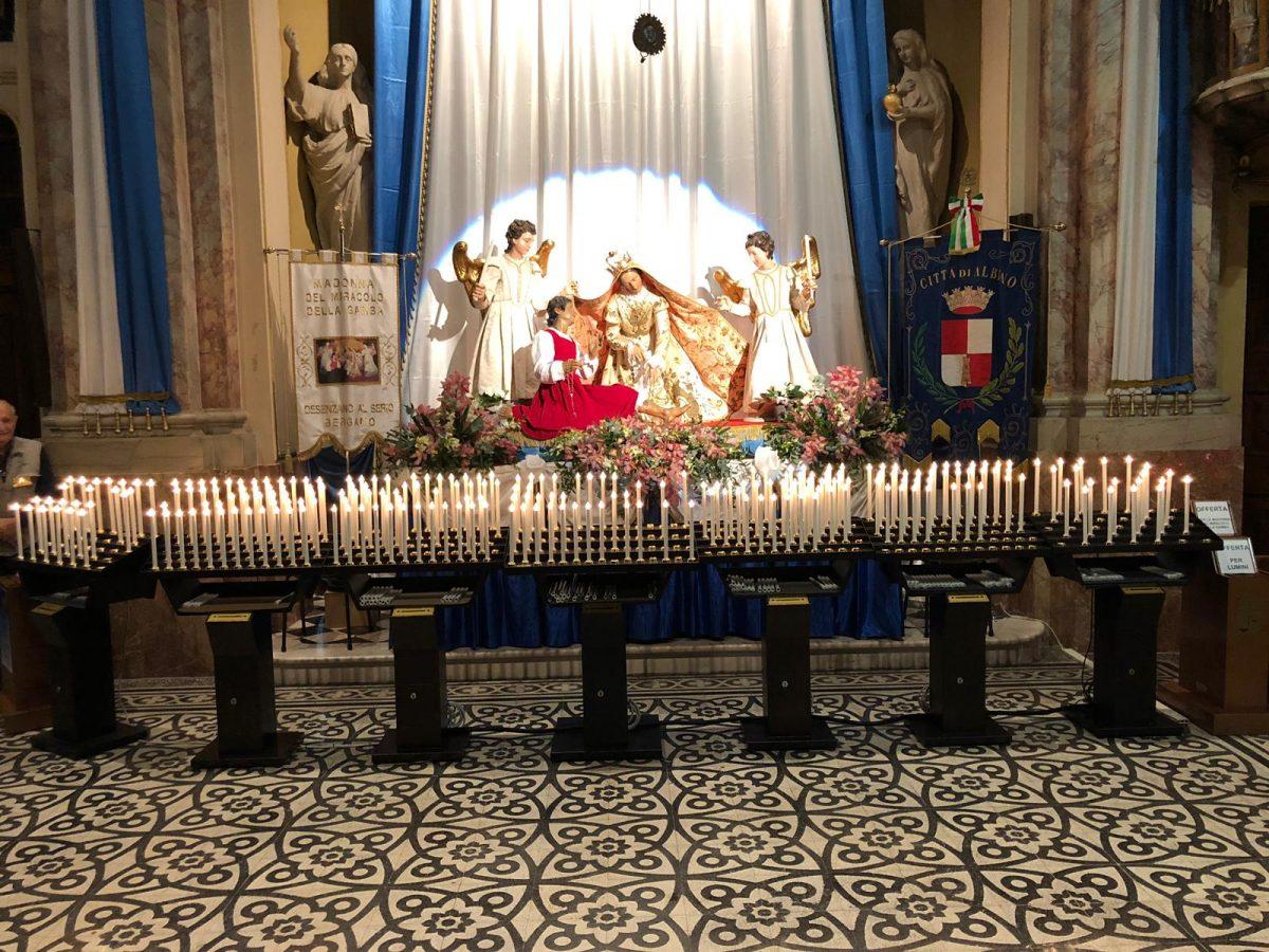 votivo arredi sacri santuari candeliere gestuale