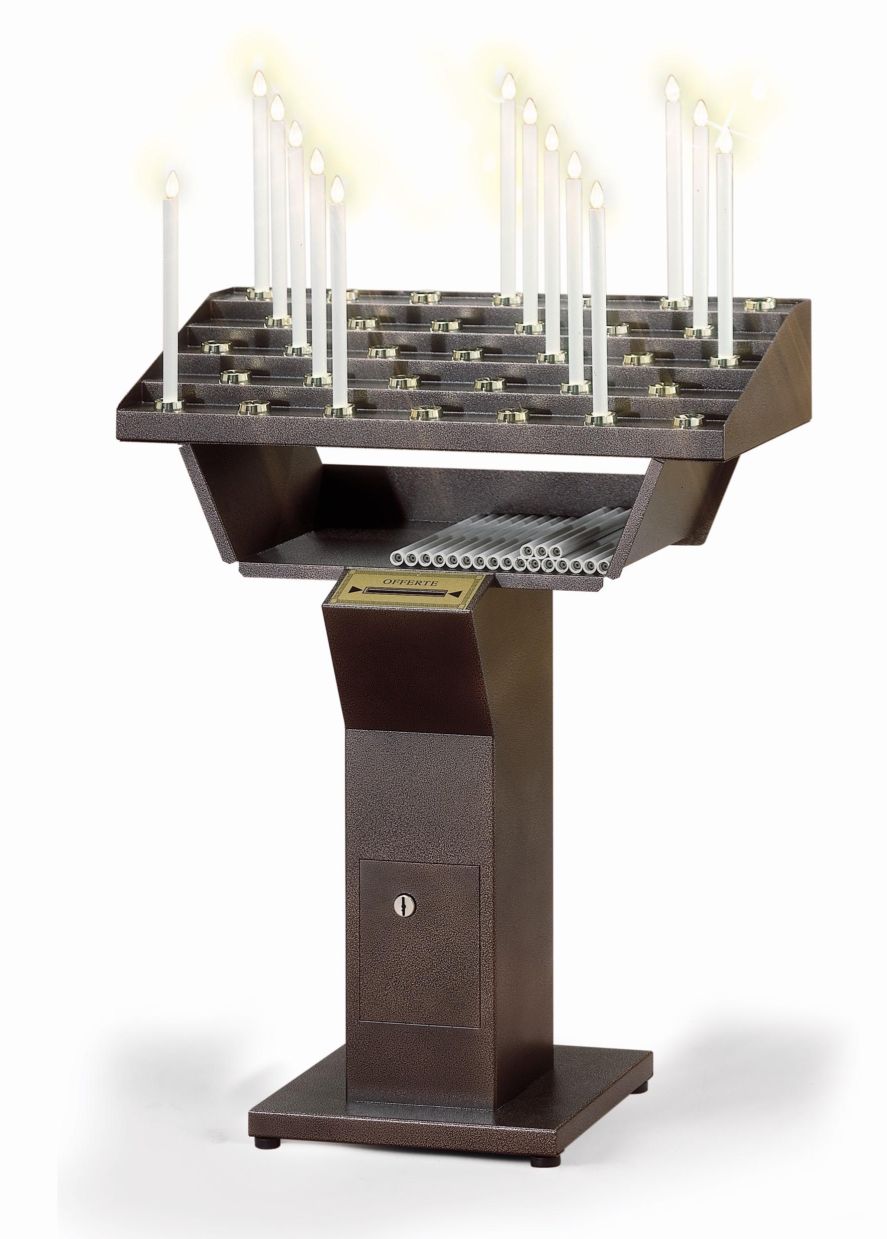 Candeliere Elettrico Gestuale per Chiese a 33 accensioni